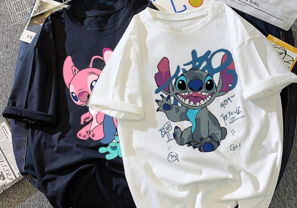 Disney-Stitch-T-shirt-ladies-summer-cartoon-top-T-shirt-fashion-men-and-women-with-the